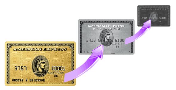 ゴールドカードからブラックカードへ