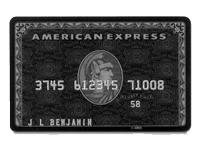 本物のブラックカード!アメックスセンチュリオンカード
