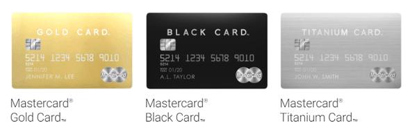 ラグジュアリーカードの種類