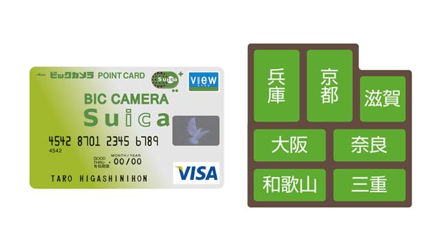 関西とビックカメラSuicaカード