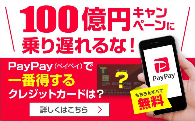 PayPay(ペイペイ)100億円キャンペーンバナー
