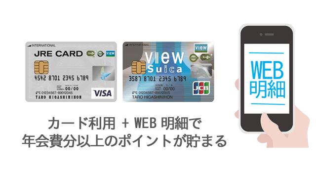 カード利用とWEB明細