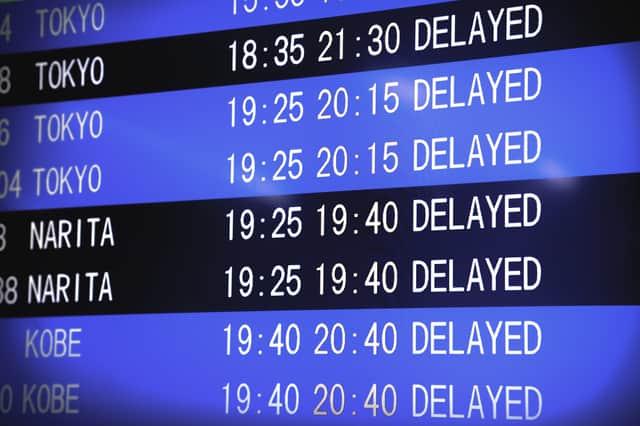 飛行機の遅延