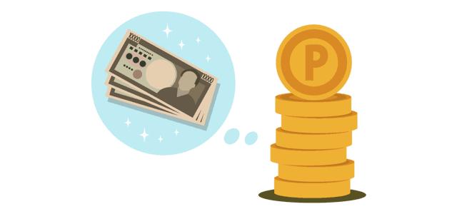 ポイントと現金