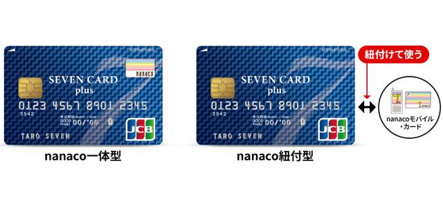 nanaco一体型と紐付け型