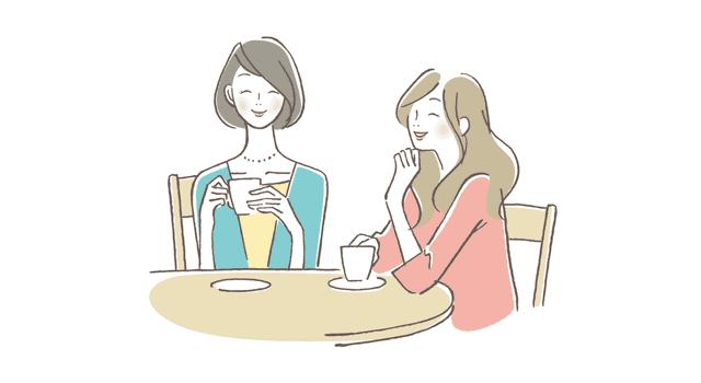 友達と会話