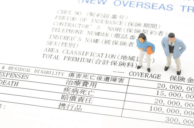 旅行保険の補償